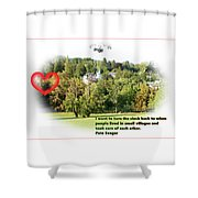 Village With History Shower Curtain
