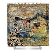 Village Zone 1 Shower Curtain
