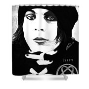 Ville Valo Portrait Shower Curtain