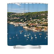 Villefranche-sur-mer And Cap De Nice On French Riviera Shower Curtain