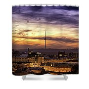 Vilnius Tv Tower Shower Curtain