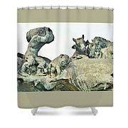 Vilsec Fountain Shower Curtain