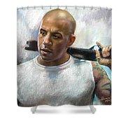Vin Diesel Shower Curtain