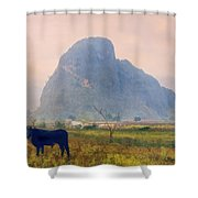 Vinales Valley, Cuba Shower Curtain