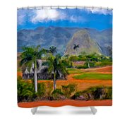 Vinales Valley. Cuba Shower Curtain
