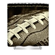Vince Lombardi Quote Shower Curtain