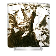 Vincent And Douglas Shower Curtain