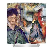 Vincent And Lalo-take 1 Shower Curtain