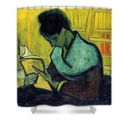 Vincent Van Gogh  A Novel Reader Shower Curtain