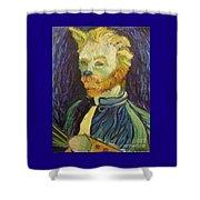 Vincent Van Gogh Cat    Shower Curtain