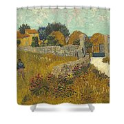 Vincent Van Gogh, Farmhouse In Provence Shower Curtain
