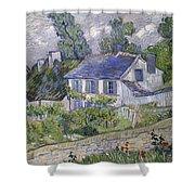 Vincent Van Gogh, Houses At Auvers Shower Curtain