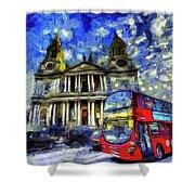 Vincent Van Gogh London Shower Curtain