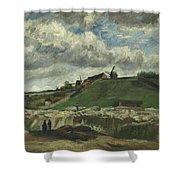 Vincent Van Gogh, The Hill Of Montmartre With Stone Quarry, Paris Shower Curtain