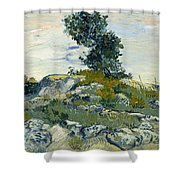 Vincent Van Gogh, The Rocks Shower Curtain
