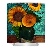 Vincent's Sunflowers 2 Shower Curtain