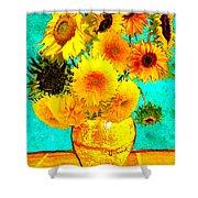 Vincent's Sunflowers 4 Shower Curtain