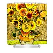 Vincent's Sunflowers Shower Curtain
