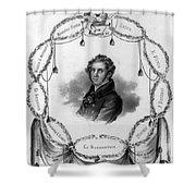 Vincenzo Bellini, Italian Composer Shower Curtain