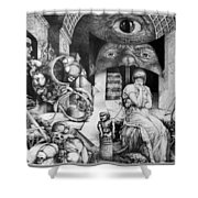 Vindobona Altarpiece IIi - Snakes And Ladders Shower Curtain