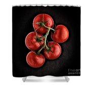 Vine Ripened Tomatoes. Shower Curtain