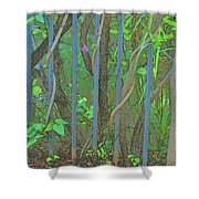 Vines Abstract IIi Shower Curtain