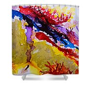 Vines And Glow Abstract Shower Curtain