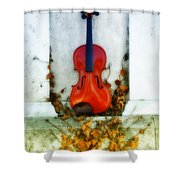 Vines And Violin Shower Curtain