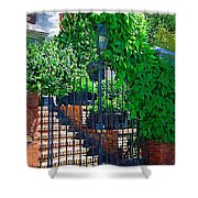 Vines Over Gate Shower Curtain