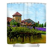 Vineyard And Heather Shower Curtain