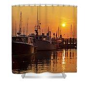 Vineyard Haven Harbor Sunrise II Shower Curtain