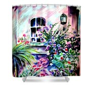 Vineyard Patio Shower Curtain