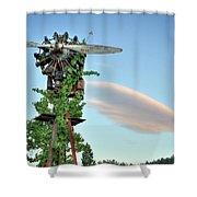 Vineyard Propeller 2 Shower Curtain