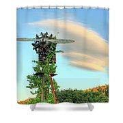 Vineyard Propeller Shower Curtain