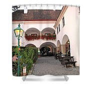 Vineyard Restaurant Shower Curtain