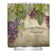Vineyard Series - Chateau Pinot Noir Vineyards Sign Shower Curtain