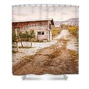 Vineyard Store House Shower Curtain