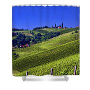 Vineyards Of Jerusalem Slovenia Shower Curtain