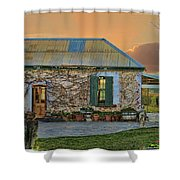 Vino Cottage Shower Curtain