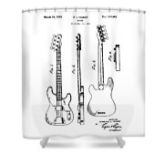 Vintage 1953 Fender Base Shower Curtain