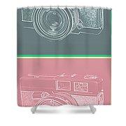 Vintage 35mm Film Camera Pop Art Totem Shower Curtain