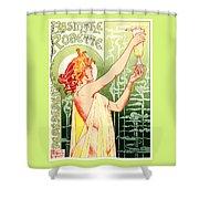 Vintage Absinthe Robette Poster Shower Curtain