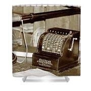 Vintage Adding Machine Shower Curtain