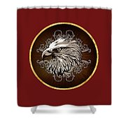Vintage American Bald Eagle Shower Curtain