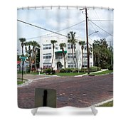 Vintage Florida Apt Bldg Shower Curtain