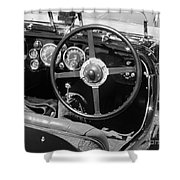 Vintage Aston Martin Dashboard Shower Curtain
