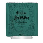 Vintage Bach Piano Book Cover Shower Curtain