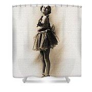 Vintage Ballet Dancer On Pointe Shower Curtain