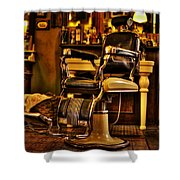 Vintage Barber Chair Shower Curtain