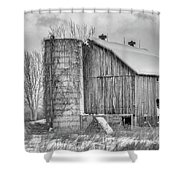 Vintage Barn Shower Curtain